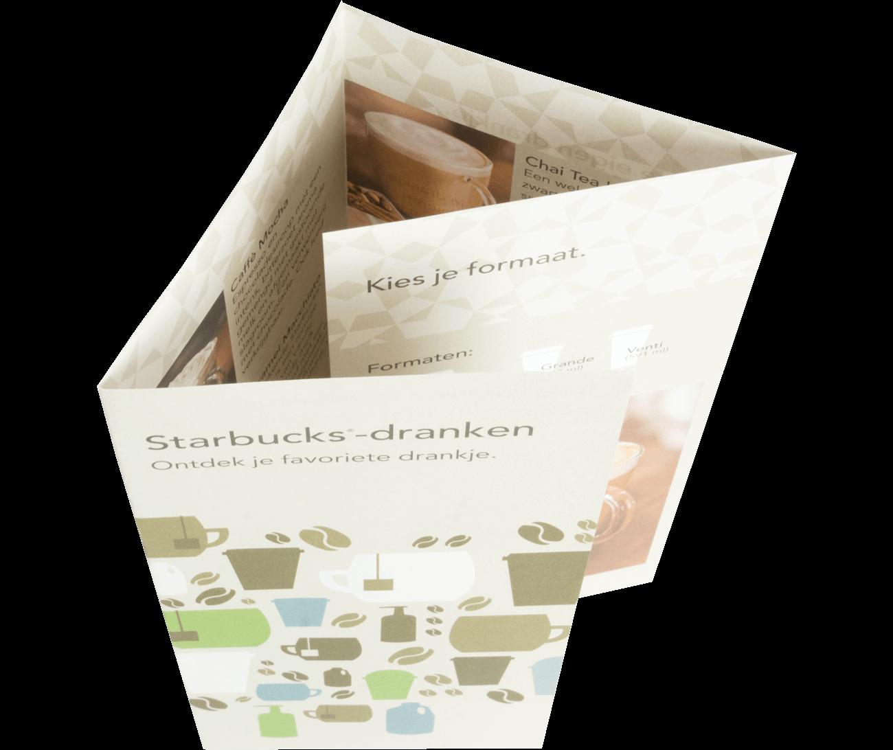Folders 4-luik wikkelvouw (A4 staand)