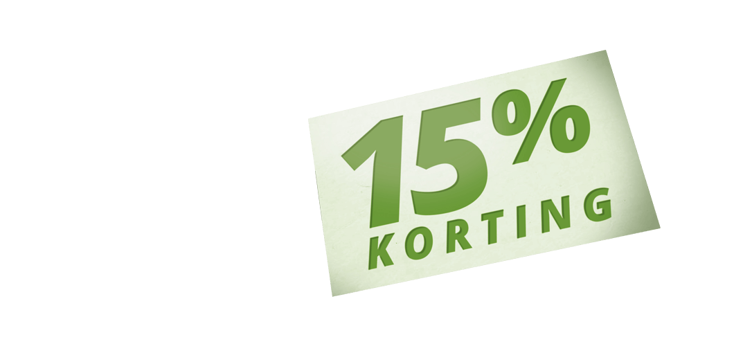<p>Profiteer online nu tijdelijk van 15% korting</p>