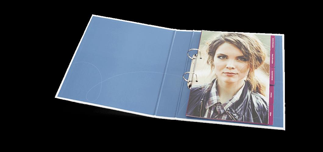 <p>Een complete set van ringbanden, tabbladen en losbladig inhoud</p>