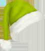 Groenprint kerstmuts