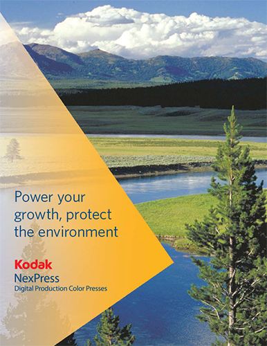 Kodak Nexpress Protect the environment