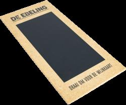 Houten menukaart drukken