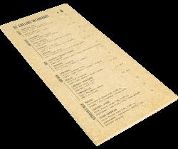 Menukaarten op hout bedrukken