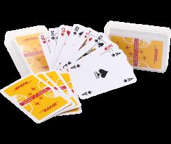 Speelkaarten met transparant kunststof doosje onbedrukt